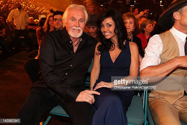 Singer Kenny Rogers and Wanda Miller attend the Lionel Richie and Friends in Concert presented by ACM held at the MGM Grand Garden Arena on April 2...