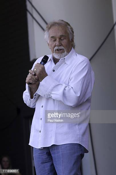 Singer Kenny Rogers at the Petrillo Band Shell on June 30 2007 in Chicago Illinois
