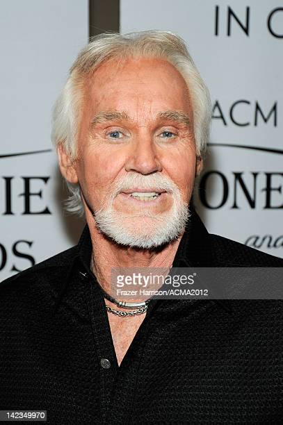 Singer Kenny Rogers attends the Lionel Richie and Friends in Concert presented by ACM held at the MGM Grand Garden Arena on April 2 2012 in Las Vegas...