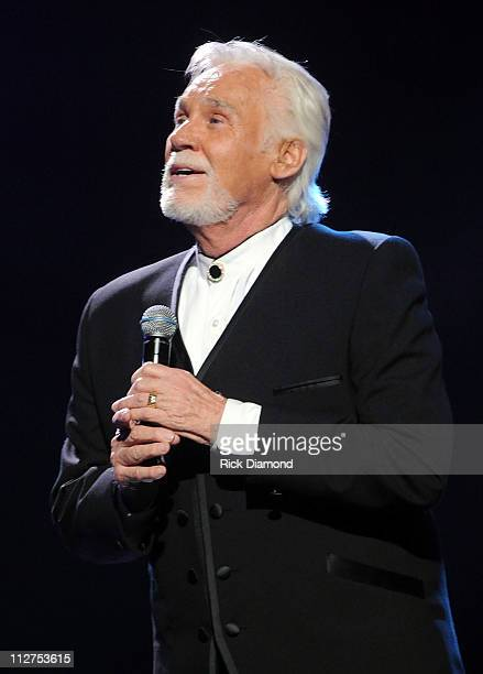 Singer Kenny Rogers performs onstage at the 42nd Annual GMA Dove Awards at The Fox Theatre on April 20 2011 in Atlanta City The show airs on GMC on...