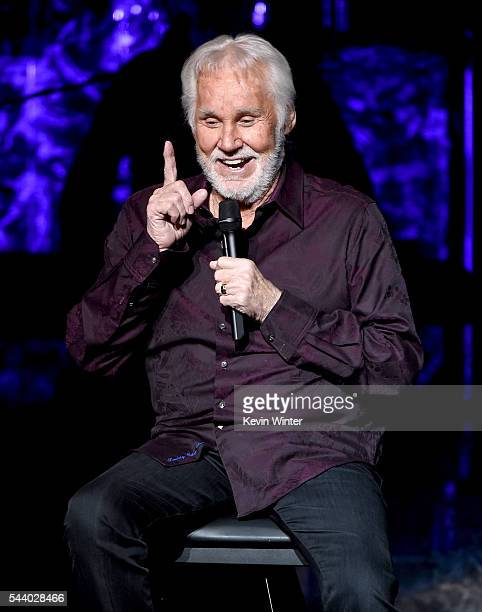 Singer Kenny Rogers performs onstage during his final world tour The Gambler's Last Deal at the Civic Arts Plaza on June 30 2016 in Thousand Oaks...