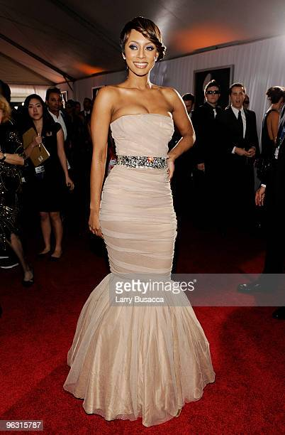 Singer Keri Hilson arrives at the 52nd Annual GRAMMY Awards held at Staples Center on January 31, 2010 in Los Angeles, California.
