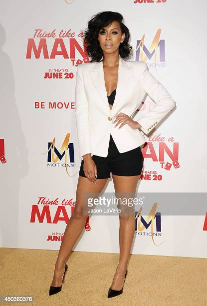 Singer Keri Hilson attends the premiere of Think Like A Man Too at TCL Chinese Theatre on June 9 2014 in Hollywood California