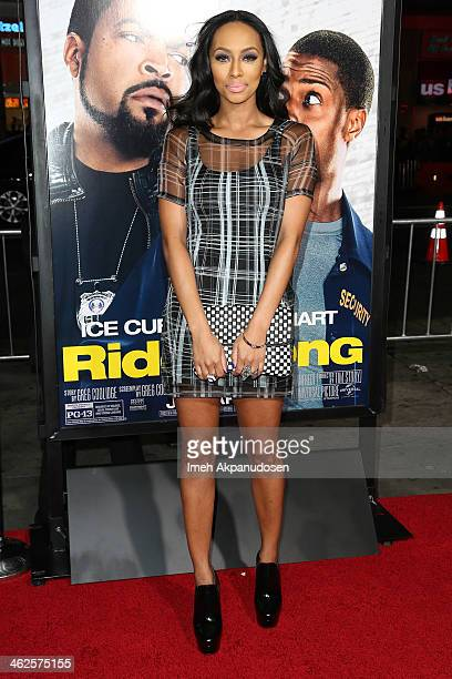 Singer Keri Hilson attends the premiere of Universal Pictures' 'Ride Along' at TCL Chinese Theatre on January 13 2014 in Hollywood California