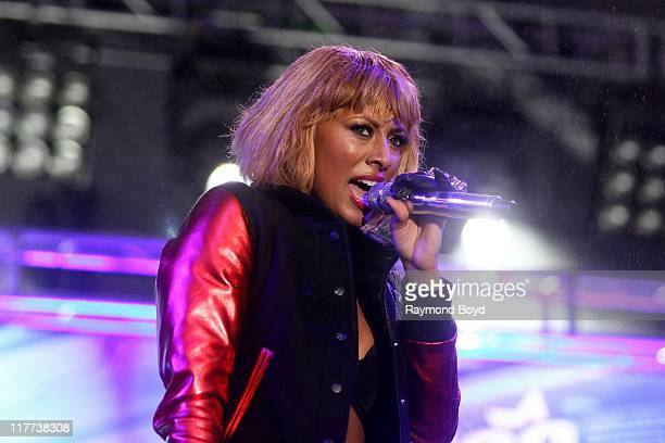 Singer Keri Hilson performs during the B96 Pepsi Summerbash at Toyota Park in Bridgeview, Illinois on June 11, 2011.