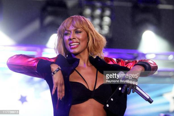 Singer Keri Hilson performs during the B96 Pepsi Summerbash at Toyota Park in Bridgeview Illinois on June 11 2011