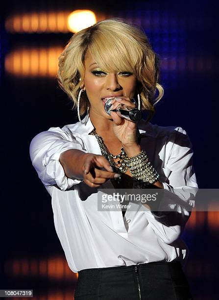 Singer Keri Hilson performs onstage during the 16th annual Critics' Choice Movie Awards at the Hollywood Palladium on January 14, 2011 in Los...