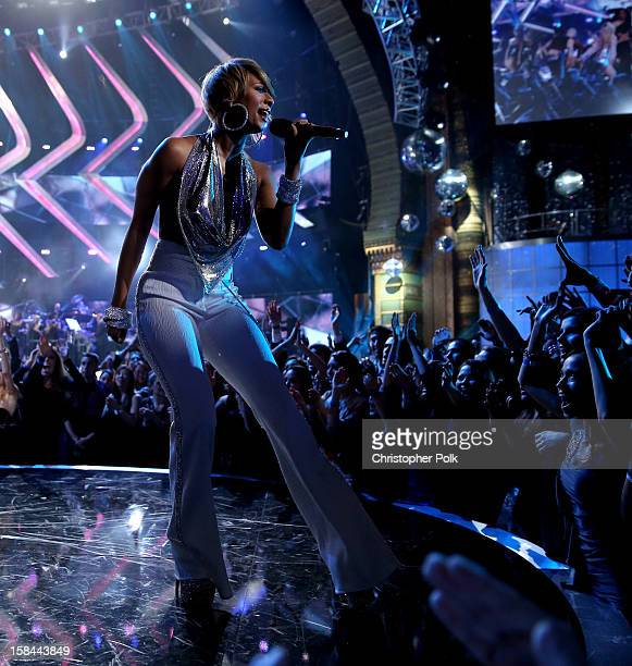 Singer Keri Hilson performs onstage during VH1 Divas 2012 at The Shrine Auditorium on December 16 2012 in Los Angeles California