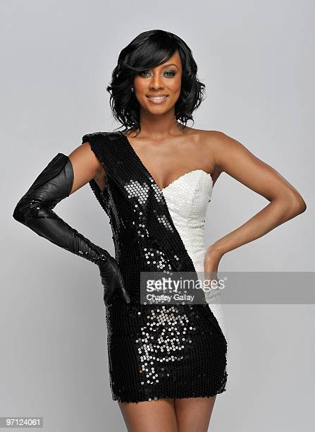 Singer Keri Hilson poses for a portrait during the 41st NAACP Image awards held at The Shrine Auditorium on February 26 2010 in Los Angeles California