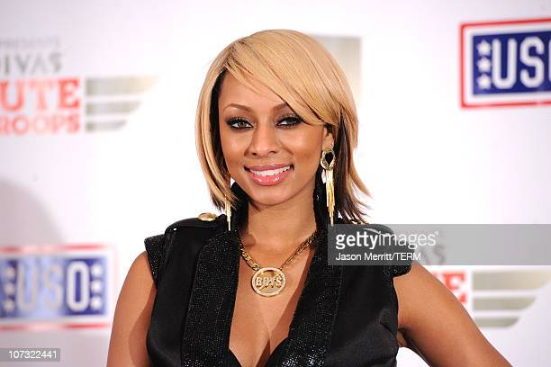 """Singer Keri Hilson poses in the press room during """"VH1 Divas Salute the Troops"""" presented by the USO at the MCAS Miramar on December 3, 2010 in..."""