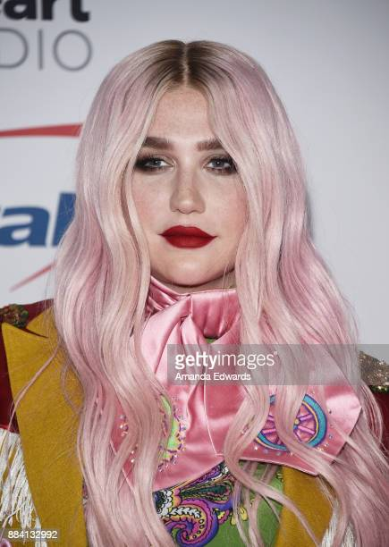 Singer Kesha arrives at 1027 KIIS FM's Jingle Ball 2017 at The Forum on December 1 2017 in Inglewood California