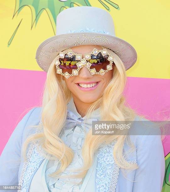 Singer Kesha arrives at Nickelodeon's 26th Annual Kids' Choice Awards at USC Galen Center on March 23 2013 in Los Angeles California