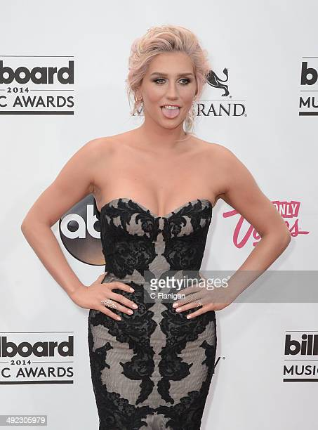 Singer Kesha arrives at the 2014 Billboard Music Awards at the MGM Grand Garden Arena on May 18 2014 in Las Vegas Nevada