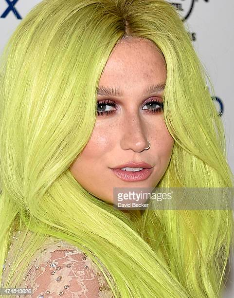 Singer Kesha arrives at the Hard Rock Hotel Casino during the resort's Rehab pool party on May 23 2015 in Las Vegas Nevada