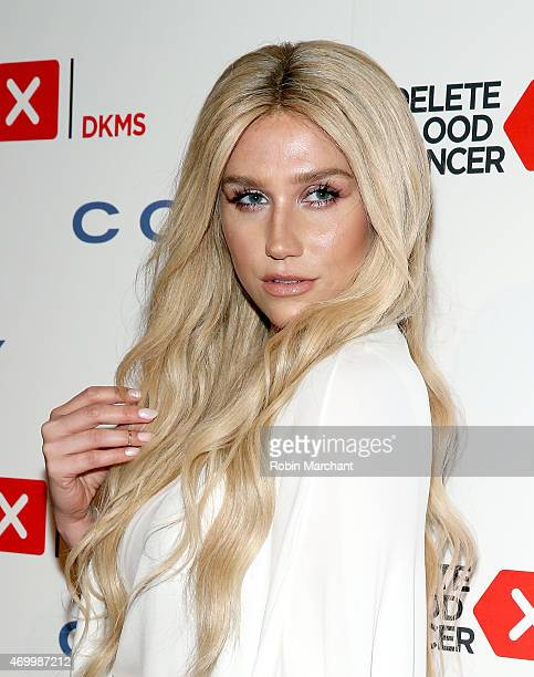 Singer Kesha attends the 9th Annual Delete Blood Cancer Gala on April 16 2015 in New York City