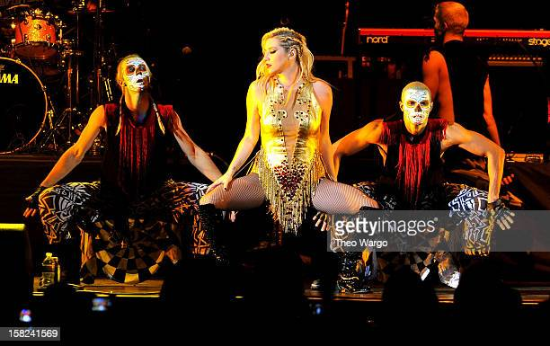 Singer Kesha performs onstage during Hot 99.5's Jingle Ball 2012, presented by Charleston Alexander Diamond Importers, at The Patriot Center on...