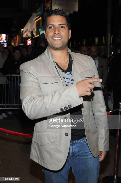 Singer Kevin Ceballo arrives at 'Spotlight Live' in New York City on March 24 2008 for the Conexion Thalia Radio Show
