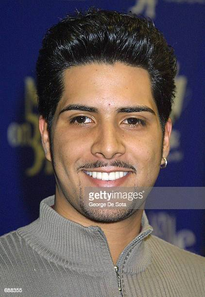 Singer Kevin Ceballo attends the radio station KTUs Fourth Annual Miracle on 34th Street concert December 18, 2001 at Madison Square Garden in New...
