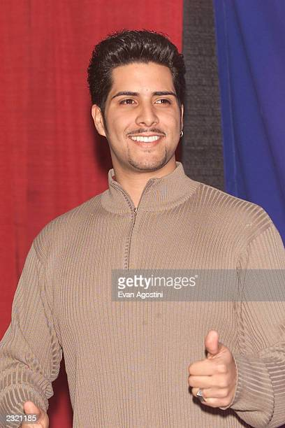 Singer Kevin Ceballo backstage at 'KTU's Miracle On 34th Street' holiday concert at Madison Square Garden in New York City. . Photo: Evan...