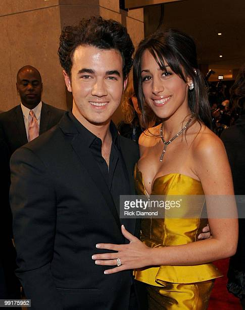 Singer Kevin Jonas and Danielle Deleasa arrive at the 52nd Annual GRAMMY Awards Salute To Icons Honoring Doug Morris held at The Beverly Hilton Hotel...