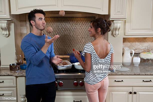 Singer Kevin Jonas and his wife Danielle Jonas are photographed in their home for Cosmopolitan Magazine on March 26 2013 in Denville New Jersey...