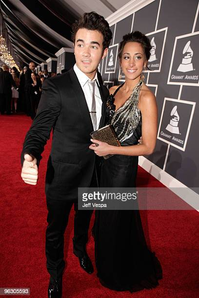 Singer Kevin Jonas and wife Danielle Jonas arrive at the 52nd Annual GRAMMY Awards held at Staples Center on January 31, 2010 in Los Angeles,...