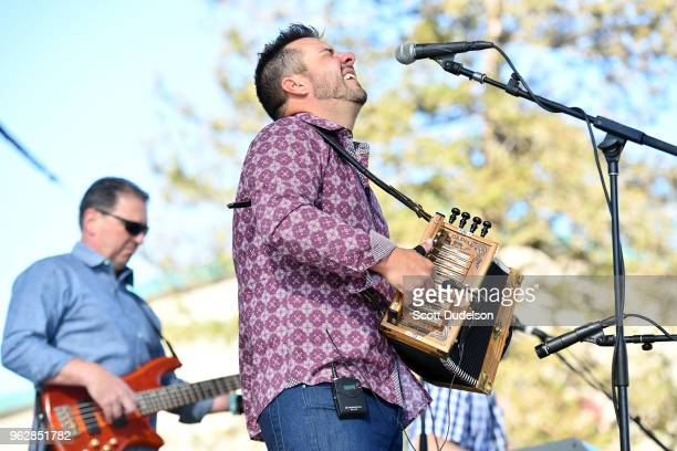 Singer Kevin Naquin performs onstage during the Simi Valley Cajun and Blues Music Festival on May 26, 2018 in Simi Valley, California.