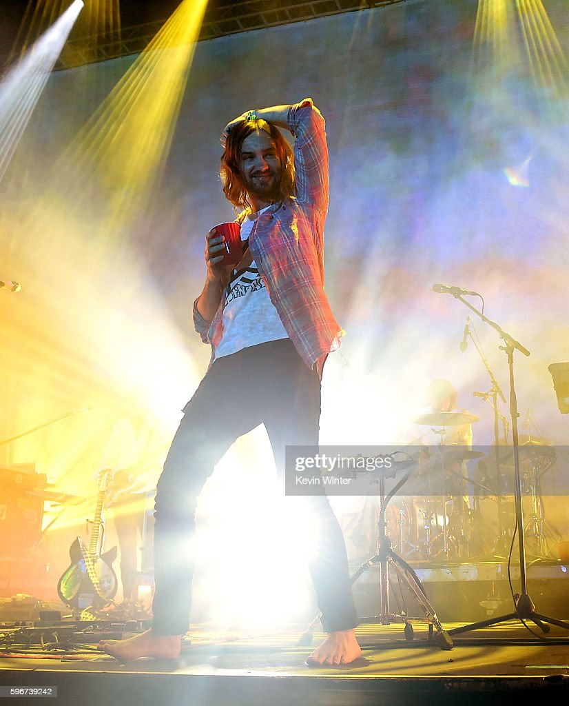 Singer Kevin Parker of Tame Impala performs onstage during FYF Fest 2016 at Los Angeles Sports Arena on August 27, 2016 in Los Angeles, California.