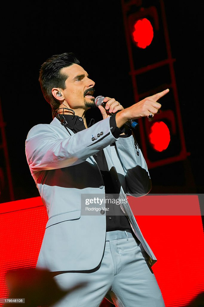 Singer Kevin Richardson of Backstreet Boys performs at Backstreet Boys In Concert at Gibson Amphitheatre on September 4, 2013 in Universal City, California.