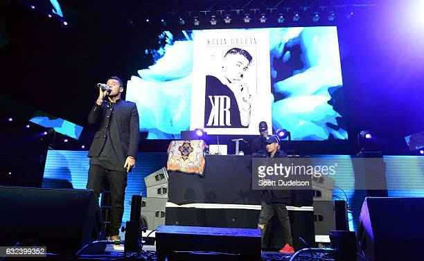 Singer Kevin Roldan performs onstage during Calibash 2017 at Staples Center on January 21 2017 in Los Angeles California