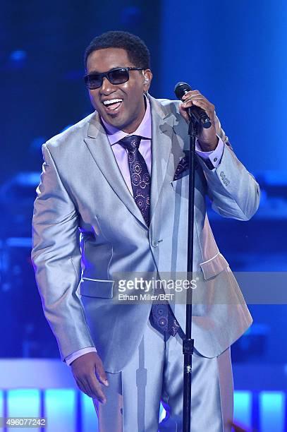 Singer Kevon Edmonds of After 7 performs onstage during the 2015 Soul Train Music Awards at the Orleans Arena on November 6 2015 in Las Vegas Nevada