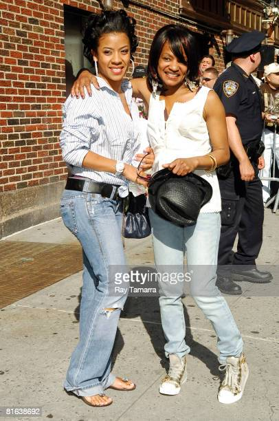 Singer Keyshia Cole and her mother Frankie Lons leave the 'Late Show With Dave Letterman' taping at the Ed Sullivan Theater June 19 2008 in New York...