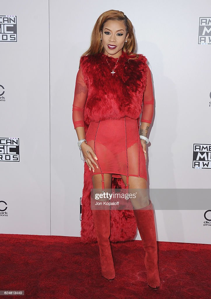 Singer Keyshia Cole arrives at the 2016 American Music Awards at Microsoft Theater on November 20, 2016 in Los Angeles, California.