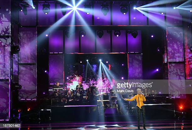 Singer Keyshia Cole performs onstage during UNCF's 33rd annual An Evening Of Stars held at Pasadena Civic Auditorium on December 1 2012 in Pasadena...