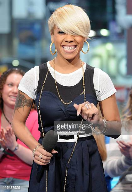 Singer Keyshia Cole visits MTV's 'TRL' at MTV Studios Times Square on January 22 2008 in New York City