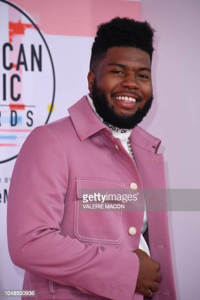 US singer Khalid arrives at the 2018 American Music Awards on October 9 in Los Angeles California