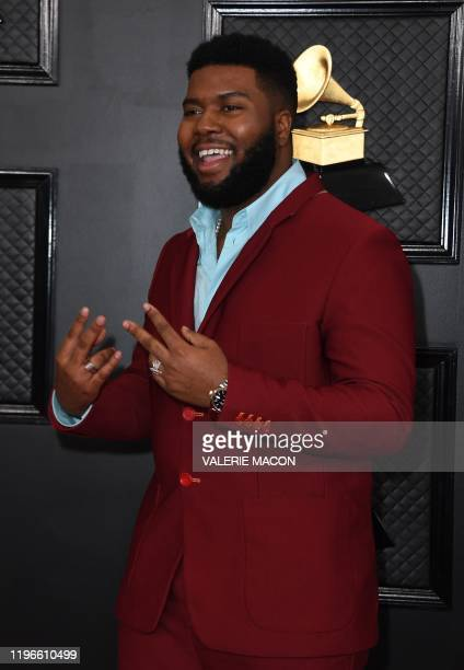 Singer Khalid arrives for the 62nd Annual Grammy Awards on January 26 in Los Angeles.