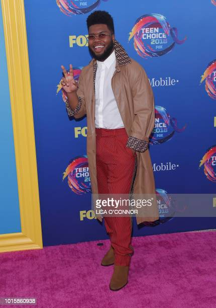 US singer Khalid attends the Teen Choice Awards 2018 in Los Angeles California on August 12 2018