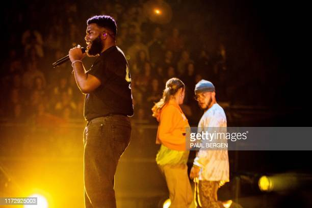 Singer Khalid Donnel Robinson aka Khalid performs during the tour for his album Free Spirit in Ziggo Dome in Amsterdam, on October 1, 2019. /...