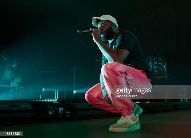 July 21: Singer Khalid performs at Sprint Center on July 21, 2019 in Kansas City, Missouri.
