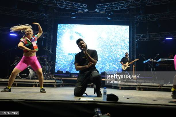 US singer Khalid performs at the NOS Alive 2018 music festival in Lisbon Portugal on July 12 2018