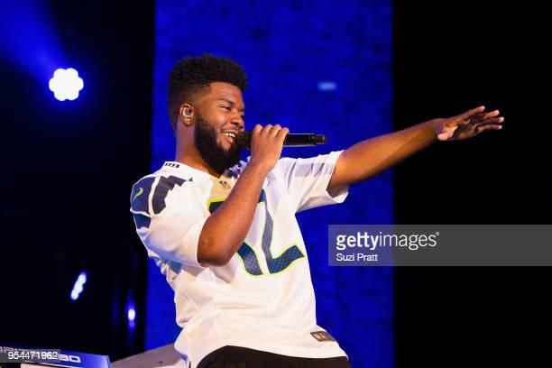 Singer Khalid performs at WaMu Theater on May 3, 2018 in Seattle, Washington.