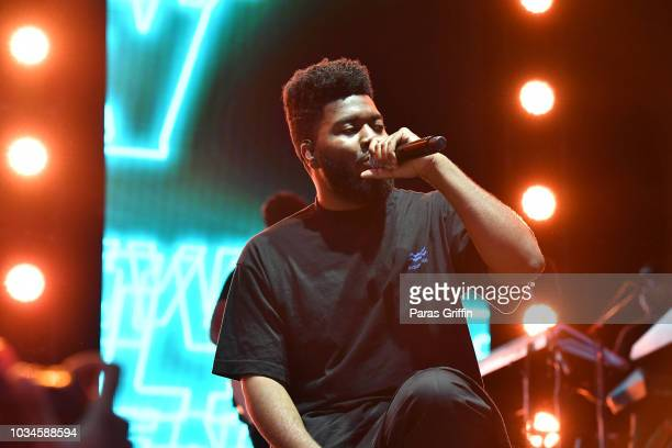 Singer Khalid performs in concert during 2018 Music Midtown at Piedmont Park on September 16 2018 in Atlanta Georgia