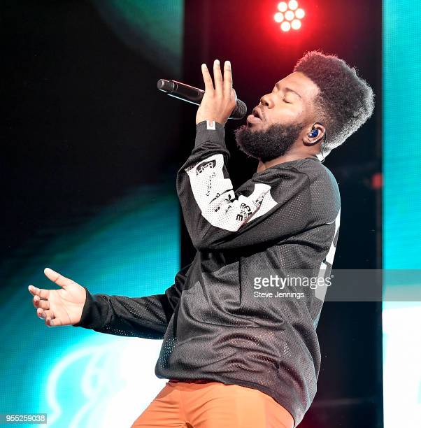 Singer Khalid performs on The Roxy Tour at Bill Graham Civic Auditorium on May 5, 2018 in San Francisco, California.