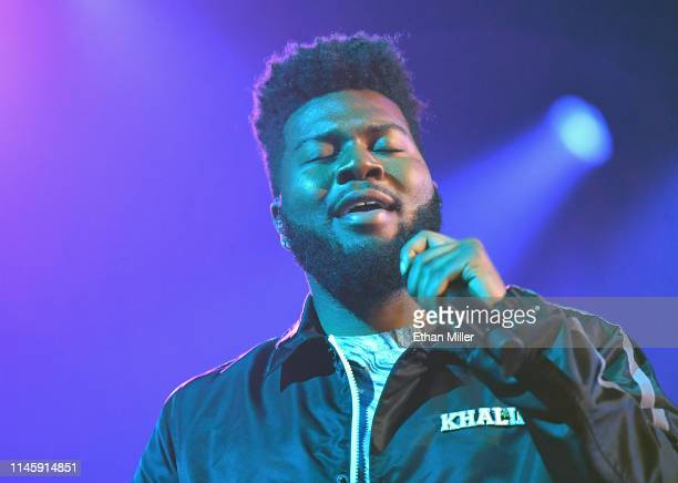 Singer Khalid rehearses for the 2019 Billboard Music Awards at MGM Grand Garden Arena on April 29, 2019 in Las Vegas, Nevada.