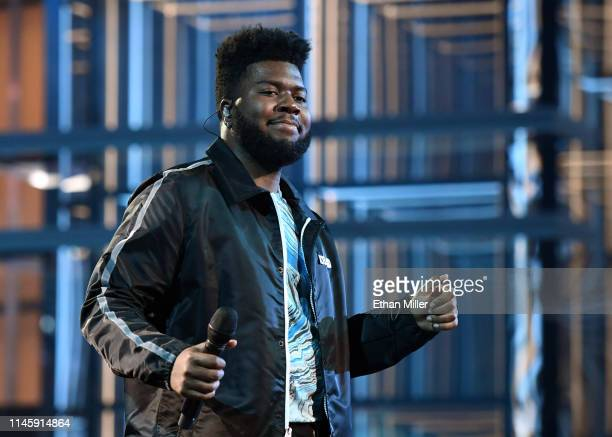 Singer Khalid rehearses for the 2019 Billboard Music Awards at MGM Grand Garden Arena on April 29 2019 in Las Vegas Nevada
