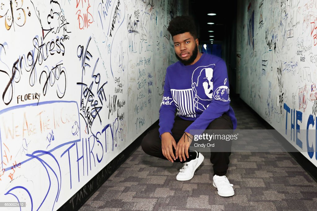 Singer Khalid visits Music Choice on March 13, 2017 in New York City.