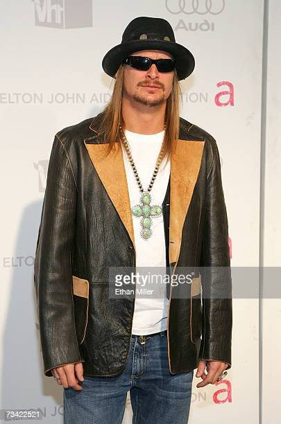 Singer Kid Rock arrives at the 15th Annual Elton John AIDS Foundation Academy Awards viewing party held at the Pacific Design Center on February 25,...