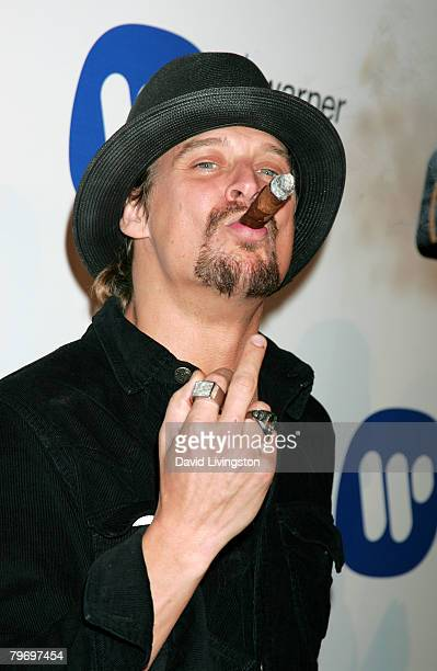 Singer Kid Rock arrives at the Warner Music Group 2008 GRAMMY Awards after party held at Vibiana on February 10 2008 in Los Angeles California