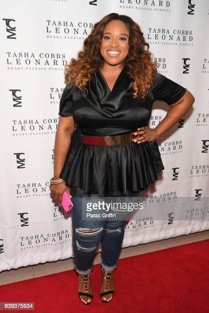 Singer Kierra Sheard at Tasha Cobbs Heart Passion Pursuit Album Release Concert at The dReam Center Church of Atlanta on August 25 2017 in Atlanta...